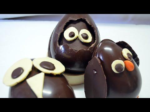 Como hacer huevos de chocolate