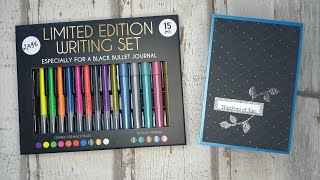 Action-Haul Stifte-Test des Limited Edition Writing Set - for black bullet journal