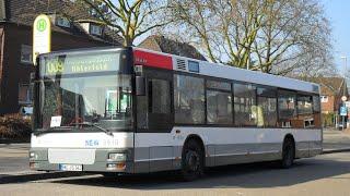 preview picture of video '[Sound] Bus MAN NL 223 (Wagennr. 9910) der NEW, Mönchengladbach'