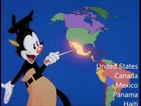 Nations of the World -  With Lyrics -  Animaniacs