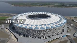 Russia: Drone captures Volgograd Arena as World Cup nears