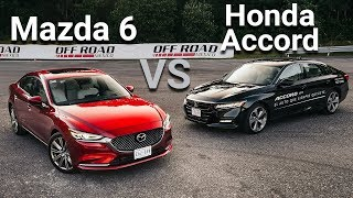 Mazda 6 VS Honda Accord - Frente a frente   Autocosmos