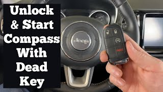 How to Unlock & Start A 2018 - 2021 Jeep Compass With A Dead Bad Broken Remote Key Fob Or Battery