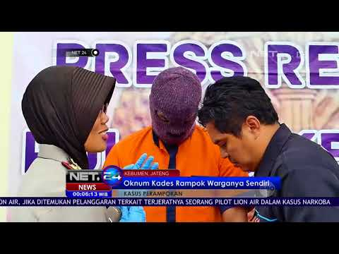 Oknum Kades Kebumen Rampok Warganya Sendiri NET24