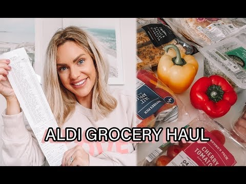 ALDI GROCERY HAUL   WHAT I BUY WHEN I'M ON THE WW GREEN PLAN