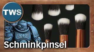 Tutorial: Schminkpinsel zum Trockenbürsten & Tupfen / makeup brushes stippling (Tabletop-Pinsel,TWS)