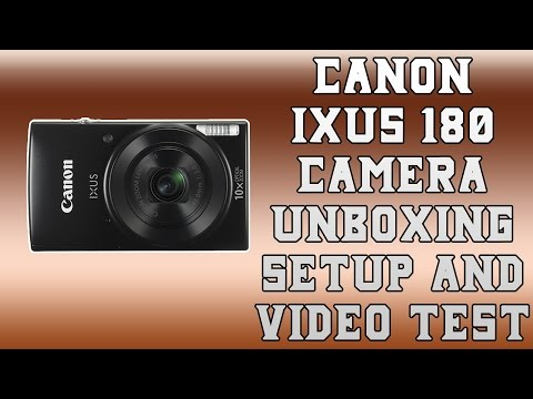 Canon IXUS 180 Camera - Unboxing, Setup and Video Test