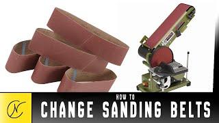 Changing the Sanding Belt - Harbor Freight Belt Disc Sander