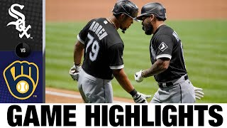 José Abreu Homers, Leads Comeback Win   White Sox-Brewers Game Highlights 8/3/20