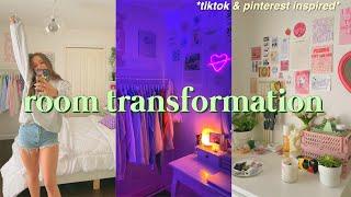 EXTREME ROOM TRANSFORMATION + TOUR 2021 !! *aesthetic/tiktok/pinterest inspired*