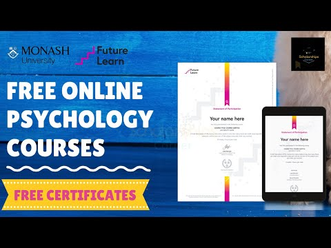 How to apply for Free Online Psychology Courses with Free Certificates in 2020 | Apply Now