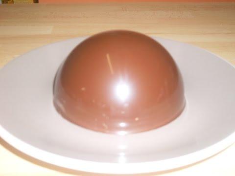 Comment faire une coque (dôme) au chocolat? technique de pâtisserie
