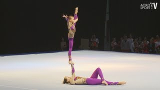preview picture of video 'Sachsenpokal Riesa 2012 Age Group Balance Women's Pair Germany - Jana Mendel, Xenia Mehlhaff'