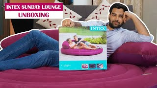 Intex Ultra Daybed Inflatable Lounge Unboxing & Review