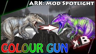 dino paint gun mod spotlight ark survival evolved