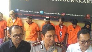 Selama 2 Pekan Satresnarkoba Polresta Solo Amankan 258 Gram Sabu dan Tangkap 9 Tersangka