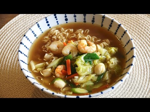 Instant Ramen with Vegetables Recipe – Japanese Cooking 101