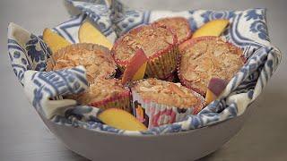Grain Free Peach Cobbler Muffins