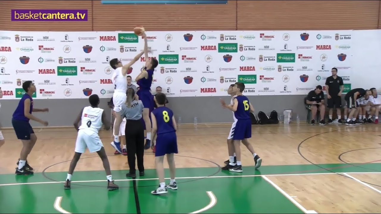 U12M - FC BARCELONA vs REAL MADRID - 3/4 Pto. Torneo Internacional La Roda 2019 (BasketCantera.TV)