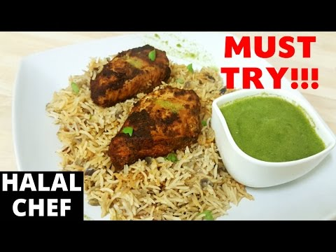 Smoked Paprika Chicken with Baked Rice & JALAPENO SAUCE | Halal Chef