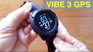 ZEBLAZE VIBE 3 GPS IP67 Waterproof Multi Sport Blood Pressure Smart Watch: Unboxing and 1st Look