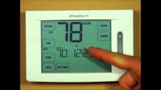 Braeburn Touchscreen Thermostat - Bypassing the Program