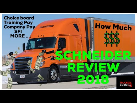 Schneider Trucking Review : How much money can u make IC CHOICE , COMPANY DRIVER & TRAINING PAY 2018
