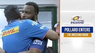 Pollard enters the dressing room after epic MI vs CSK chase | एमआइ बनाम सीऐसके | IPL 2021 - ENTERS