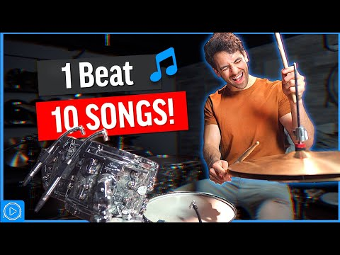 Play 10 SONGS with 1 EASY Drum Beat - Drum Lesson