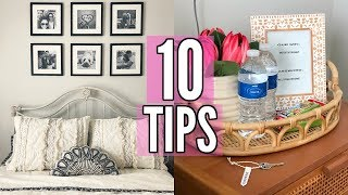 10 THINGS TO DO BEFORE HAVING GUESTS! CLEANING, TIPS, AND ORGANIZATION!