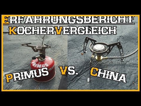 Gaskocher Stove Vergleich: Primus vs. China - Outdoor Bushcraft Deutschland Review
