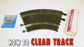 How to clean track  | SLOT CARS SCHOOL |  HOW TO