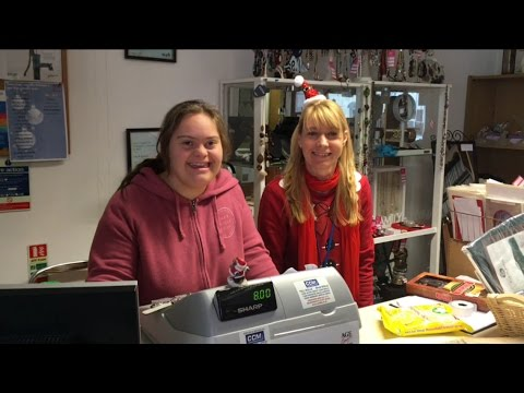 Daniella's work experience volunteering in a charity shop.