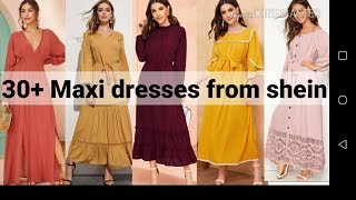 Long Sleeve Solid Colour Maxi Dresses From Shein