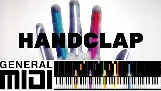 HandClap / Fitz & The Tantrums (MIDI Karaoke instrumental version tutorial)