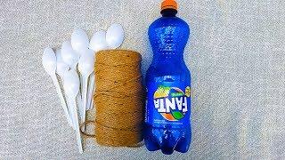 3 ИДЕИ ПАСХАЛЬНЫХ ПОДЕЛОК СВОИМИ РУКАМИ из пластиковых ложек | Пасхальный декор | DIY