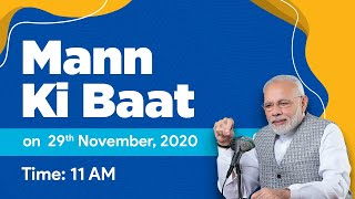 PM Narendra Modi #MannKiBaat: 29th November 2020