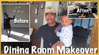 BAR & LOUNGE AT HOME! WE TRANSFORMED OUR FORMAL DINING ROOM! | DINING ROOM MAKEOVER