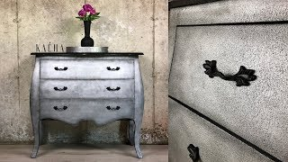 Furniture Makeover With Metallic Paint And Chalk Paint