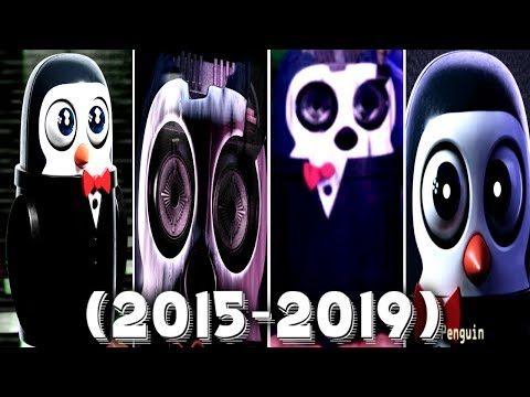 Evolution of Penguin in FNAC 1, 2, 3, Remastered (2015 - 2019)