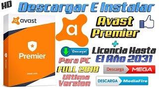 Descargar Avast Premier 2019 (Licencia Hasta El Año 2028) (Última Versión) Windows 10 8.1 8 7
