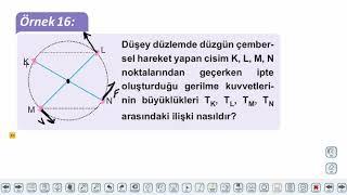 Eğitim Vadisi AYT Fizik 9.Föy Çembersel Hareket 3 Konu Anlatım Videoları
