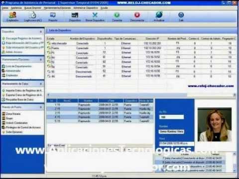 ZKTECO software de control de asistencia.wmv