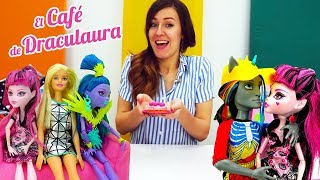 El café de Draculaura. Monster High muñecas. Vídeos para niñas