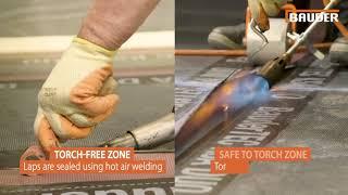Bauder Torch Free Bitumen Membrane Flat Roof Detailing