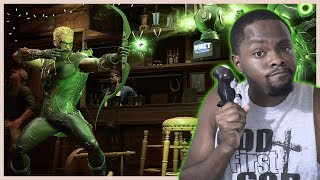 GETTING BETTER SLOWLY BUT SURELY! - Injustice 2 Green Arrow Gameplay