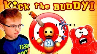 Антистресс против! Эксперимент Видео АНТИСТРЕСС на телефоне летсплей игра Kick the buddy взлом