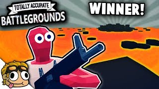 SECRET LAVA LAKE ARENA + FIRST WIN! | Totally Accurate Battlegrounds (TABG) Battle Royale Gameplay