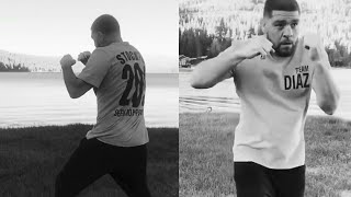 Nick Diaz Shadow Boxing by the Lake a few days out from UFC 266