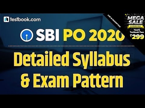 SBI PO Syllabus 2020-21   SBI PO Exam Pattern   Detailed ...